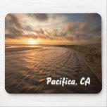 Mousepad de la puesta del sol de la playa: Playa d Alfombrilla De Raton