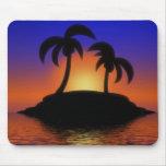 Mousepad de la salida del sol de la palmera