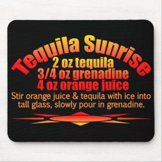 Mousepad de la salida del sol del Tequila Tapetes De Ratones