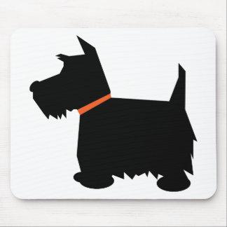 Mousepad de la silueta del negro del perro de Terr Alfombrillas De Raton