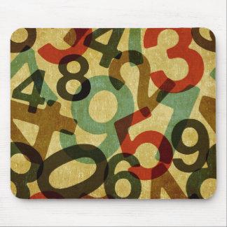 mousepad de la textura de los números del vintage alfombrilla de raton