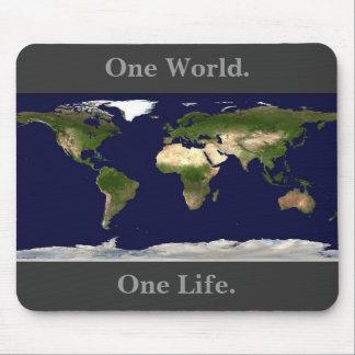 Mousepad de la tierra, un mundo., una vida
