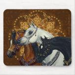 Mousepad de los caballos de reyes Arabian del desi Tapetes De Ratón