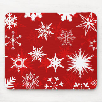 Mousepad de los copos de nieve del navidad