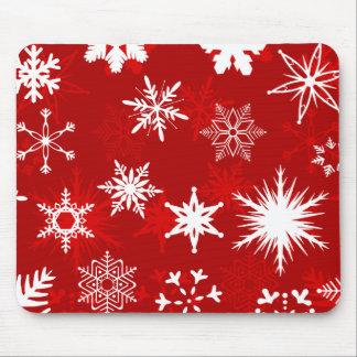 Mousepad de los copos de nieve del navidad tapete de ratón