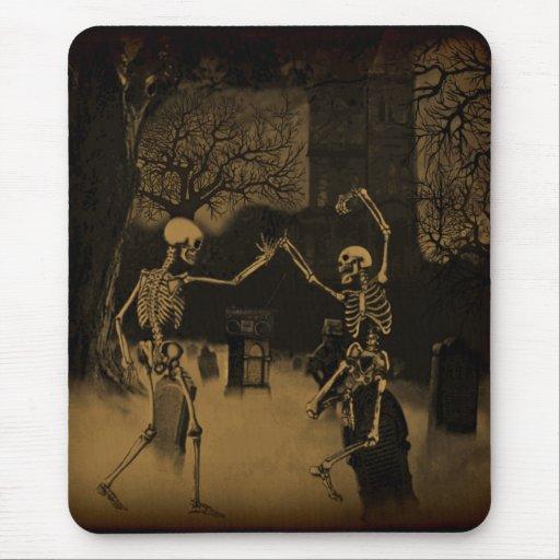 Mousepad de los esqueletos del baile alfombrillas de ratón