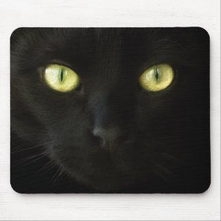 Mousepad de los ojos de gato negro