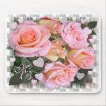 ~ Mousepad de los rosas y de los corazones Alfombrilla De Ratón