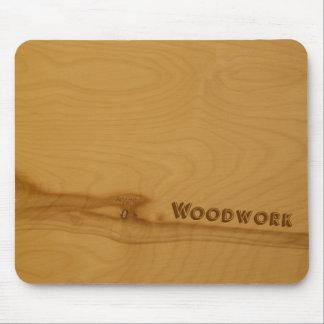 Mousepad de madera nudoso alfombrillas de ratón