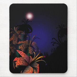 Mousepad de medianoche de Lillies