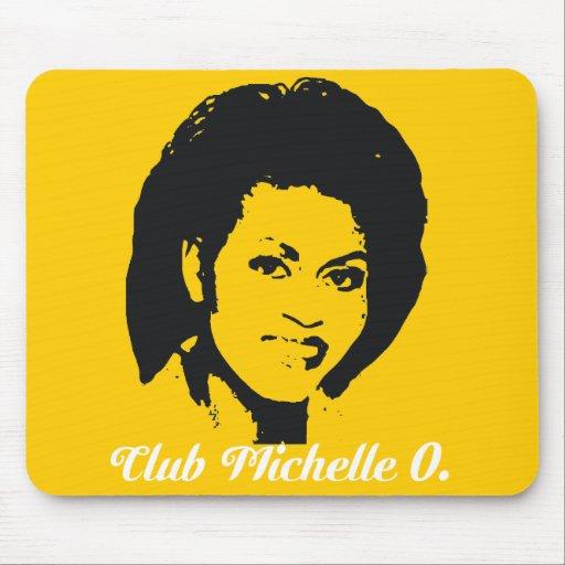 Mousepad de Michelle O del club en amarillo del ma Alfombrilla De Ratón