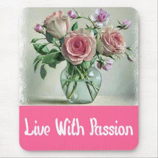 Mousepad de motivación color de rosa rosado