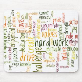 Mousepad de motivación de las palabras #2 alfombrillas de ratones