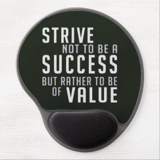 Mousepad de motivación del éxito y del valor alfombrilla con gel