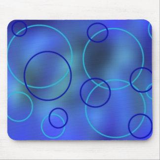 Mousepad de neón azul tapete de ratón