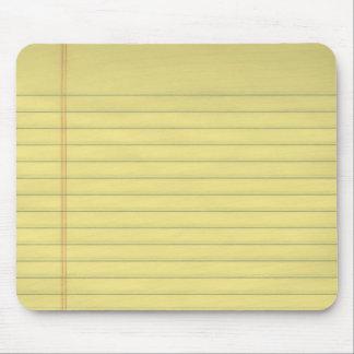 Mousepad de papel legal amarillo alfombrilla de ratones