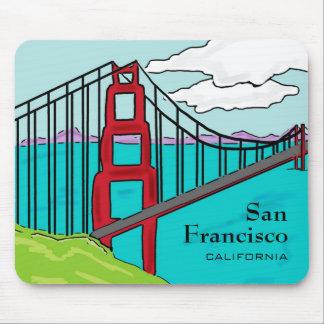 Mousepad de puente Golden Gate de San Francisco Ca Tapetes De Ratones
