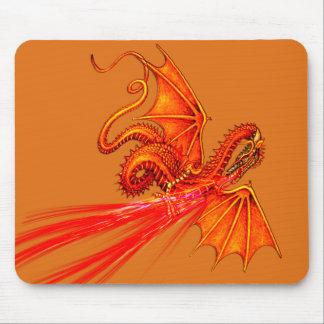 Mousepad de respiración del dragón del fuego