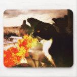 Mousepad de respiración del gato del dragón del fu tapetes de ratón