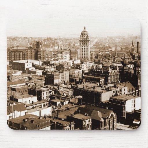 Mousepad de San Francisco en 1900 Alfombrillas De Raton