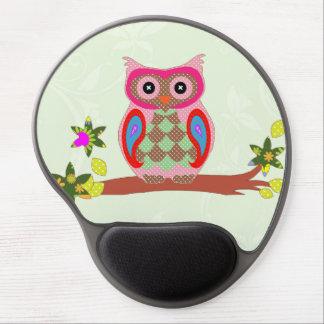 Mousepad decorativo del gel del arte colorido del  alfombrilla de ratón con gel