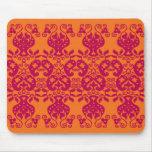 Mousepad decorativo rojo del modelo de Swirls&Pais Tapetes De Ratón