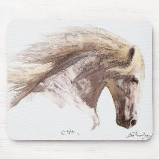 """Mousepad del amante del caballo del semental de """"S"""