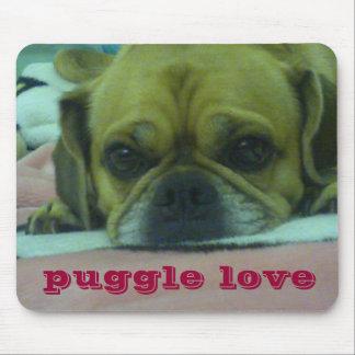 Mousepad del amor de Puggle Alfombrillas De Raton