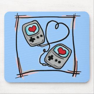 Mousepad del amor del videojugador alfombrilla de ratón