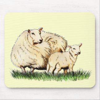 mousepad del animal de dos ovejas alfombrillas de ratones