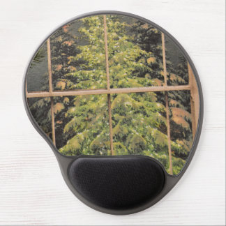 Mousepad del árbol de pino alfombrilla con gel