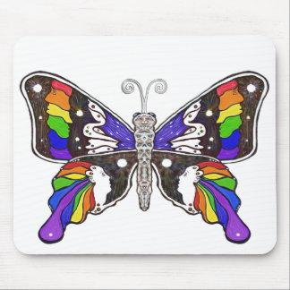 Mousepad del arco iris de la mariposa - formato