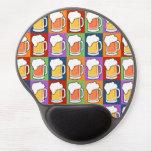 Mousepad del arte pop de la CERVEZA Alfombrillas De Raton Con Gel