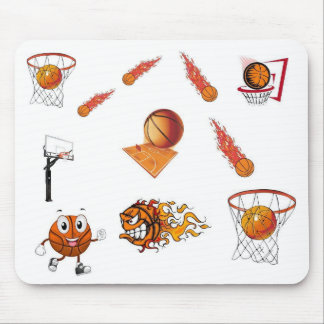 mousepad del baloncesto del dibujo animado