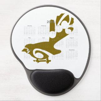 Mousepad del calendario Fantail2015 Alfombrilla De Raton Con Gel