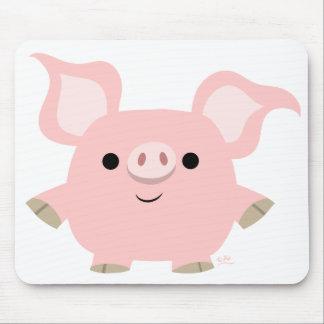 Mousepad del cerdo del dibujo animado de Shorty Alfombrillas De Ratón