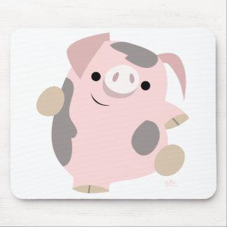 Mousepad del cerdo del dibujo animado del baile alfombrillas de raton