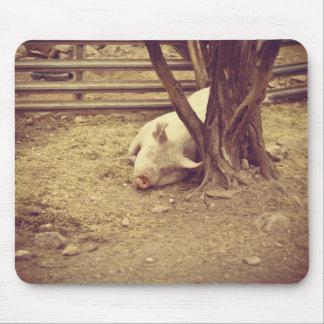 Mousepad del cerdo del SLeepyhead Tapetes De Ratón