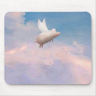 mousepad del cerdo del vuelo alfombrilla de ratón