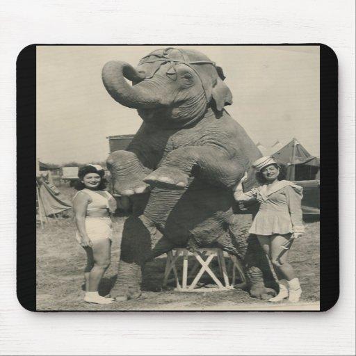 mousepad del circo del elefante y de 2 chicas tapete de ratones