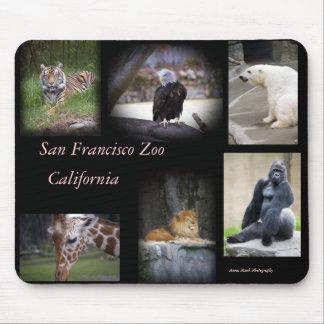 Mousepad del collage del parque zoológico de SF Alfombrilla De Ratón