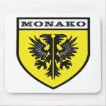 Mousepad del color del escudo de Monako Alfombrillas De Ratón