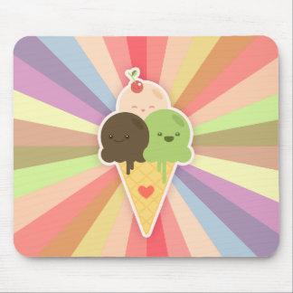 Mousepad del cono de helado de Kawaii Tapete De Ratones
