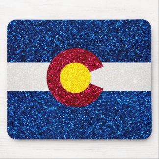 Mousepad del cuadrado de la bandera de Colorado