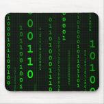Mousepad del cuadrado del código binario alfombrilla de raton