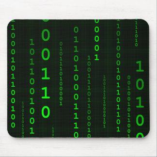 Mousepad del cuadrado del código binario