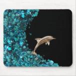 Mousepad del delfín y de Paua Shell Alfombrillas De Ratón