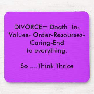 Mousepad del divorcio alfombrillas de raton