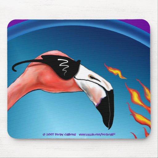 Mousepad del flamenco de Flamin (versión 2) Alfombrillas De Raton