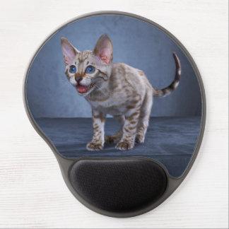 Mousepad del gatito de Bengala de la nieve Alfombrillas Con Gel